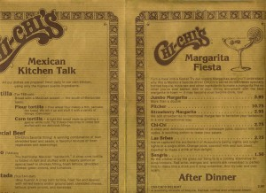 "Chi's Menu - ""When You Feel a Little Mexican!"""