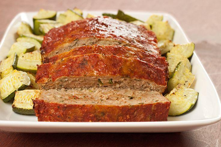Balsamic glazed turkey loaf with basil