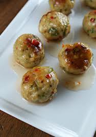 Turkey Meatballs with Chutney Sauce