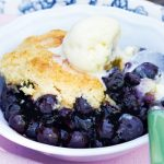 Canadian Living's Blueberry Cornmeal Cobbler
