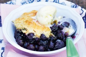 Blueberry Cornmeal Cobbler from Canadian Living Magazine