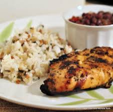 Jerk Chicken Served with rice