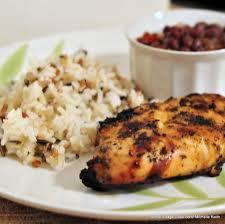 Jerk Chicken Served with rice