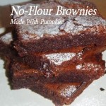 No-Flour Pumpkin Brownies