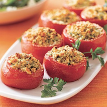 Stuffed Broiled Tomatoes Recipe