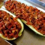 Picadillo Stuffed Zucchini Boats