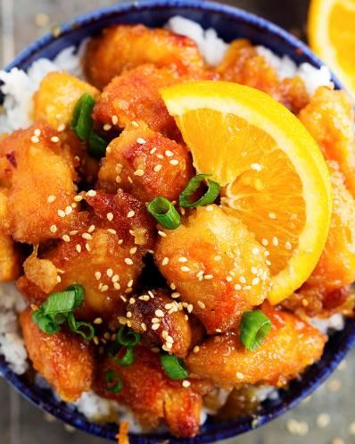 Crockpot orange chicken in slow cooker