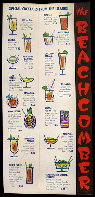 Old beachcomber restauraunt menu - winnipeg
