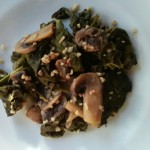 Kale Sauteed With Mushrooms and Marsala Wine