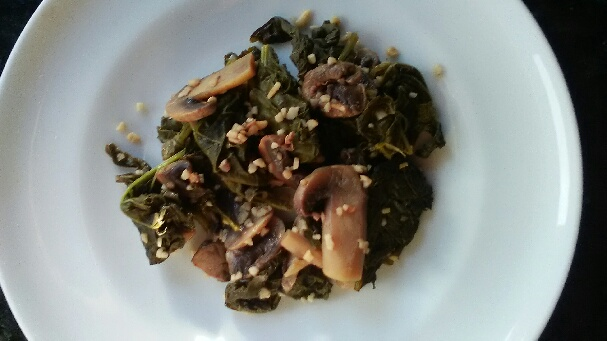Sauteed Kale with Mushrooms and Marsala Wine