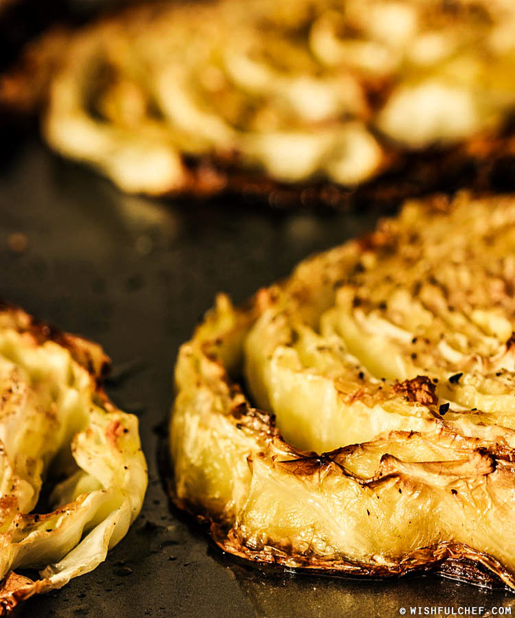 Lemon Roasted Cabbage