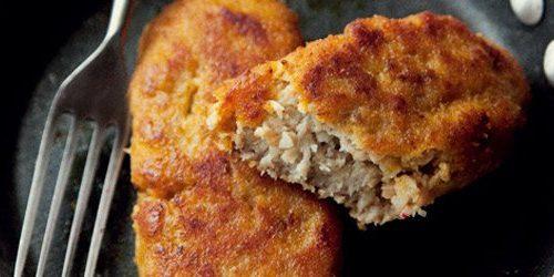 Breaded pork kotlety
